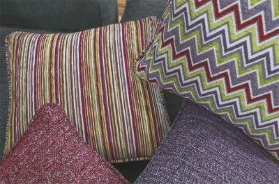 Como, Iona and Jarvis fabric cushions from the Jester Collection