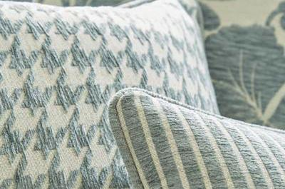 Perro and Andrew Stripe fabrics from the Manor House Collection