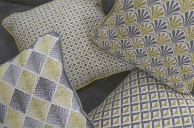 Hearst, Coco, Astoria and Empire fabric cushions from the Apollo and Gatsby Collections